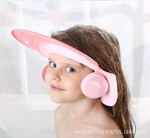 Uptown Vibez Pink Adjustable Silicone Baby Shower Cap