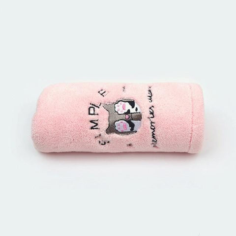 Uptown Vibez Pink Cat / 25x65cm / China Quick Drying Hair Towel
