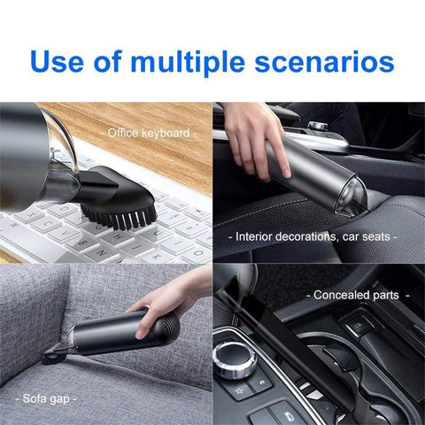 Uptown Vibez Car Vacuum Cleaner Portable Wireless Handheld Auto Vacuum Cleaner kitchen Robot for Car Interior Home Cleaning Electric bicycle