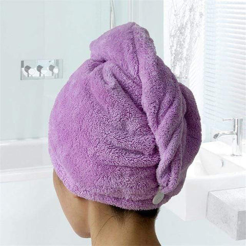 Uptown Vibez Purple / 25x65cm / China Quick Drying Hair Towel