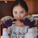 Uptown Vibez Purple / One Size Hedgehog Mittens