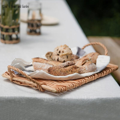 Uptown Vibez Rattan Cane Serving Tray