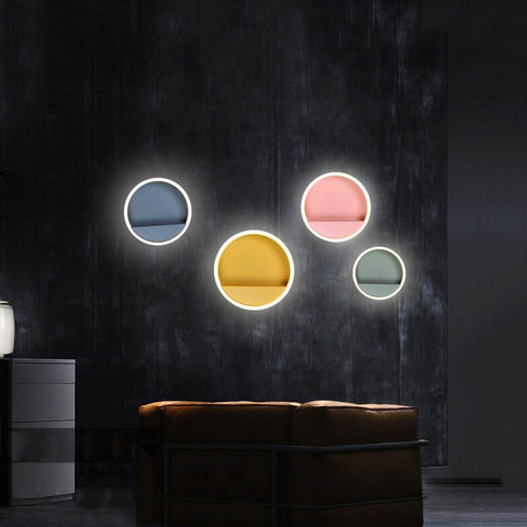 Uptown Vibez Round LED Wall Lamp