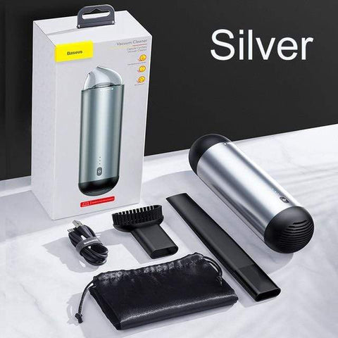 Uptown Vibez silver / China Portable Car Vacuum Cleaner - Wireless