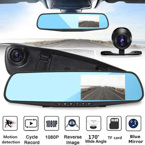 Uptown Vibez Smart HD Rearview Mirror Camcorder