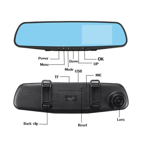 Smart HD Rearview Mirror Camcorder