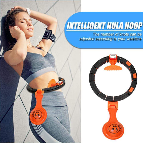 Uptown Vibez Sports Hoops Yoga Home Fitness Exerciser Hula Circle Smart Counting Detachable Hoop Adjustable Weight Loss Waist Ring for Women