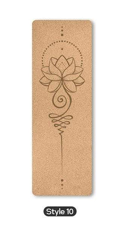 Uptown Vibez Style 10 / Russian Federation 70 in Yoga mat Fitness Natural Cork mats Pilates Sport Slimming Balance Training Gym with Position Line Non Slip Gymnastics Pad