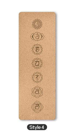 Uptown Vibez Style 4 / Russian Federation 70 in Yoga mat Fitness Natural Cork mats Pilates Sport Slimming Balance Training Gym with Position Line Non Slip Gymnastics Pad