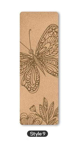 Uptown Vibez Style 9 / Russian Federation 70 in Yoga mat Fitness Natural Cork mats Pilates Sport Slimming Balance Training Gym with Position Line Non Slip Gymnastics Pad