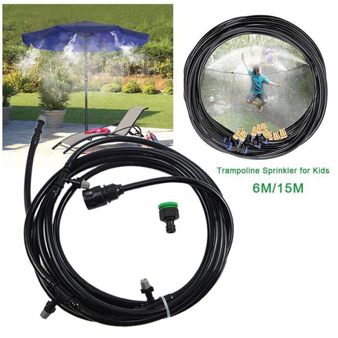 Uptown Vibez Trampoline Sprinkler Durable Safe Trampoline Sprinkler Multifunctional Water Cooling Pipe Toy For Outdoor Garden Yard Park