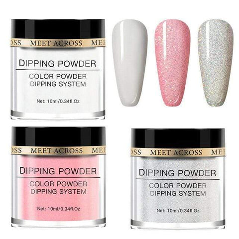 Uptown Vibez United States / AZH10815 MEET ACROSS10Pcs Nude Pink Series Dipping Nail Powder Set Sparkling Nail Glitter Natural Dry Dip Nail Chrome Decoration Kit