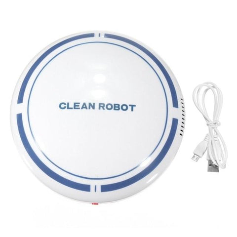 Uptown Vibez White / CHINA Automatic USB Rechargeable Smart Robot Vacuum Floor Cleaner Sweeping Suction Household Low Noise Dust Collector
