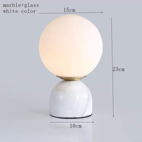 Uptown Vibez white color Marble Pattern Table Lamp