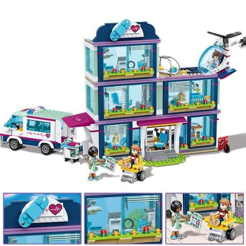 Uptown Vibez White Friends Heartlake City Resort Top Hotel Compatible With Girls Friends  Lepining Figures Model Building Blocks Bricks Toys Gift