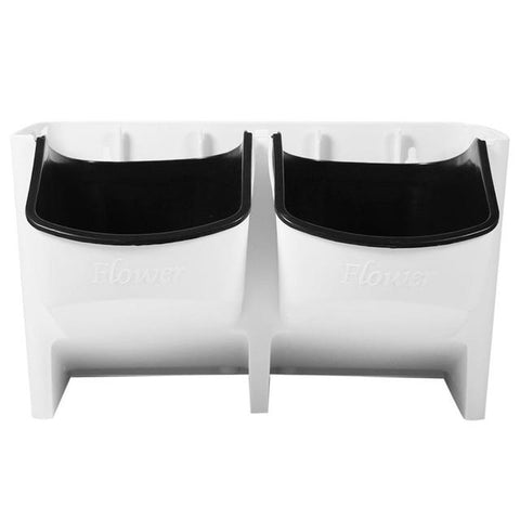 Uptown Vibez White Stackable Planters