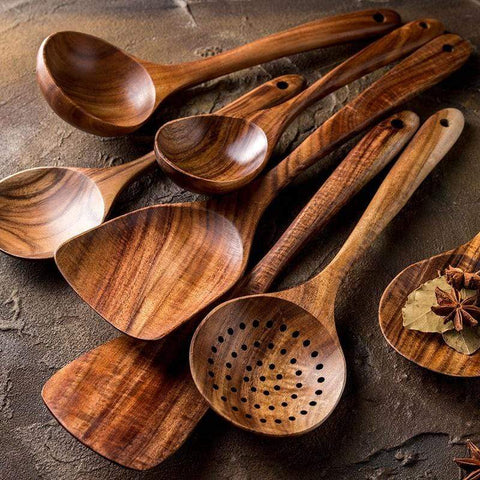 Uptown Vibez Wooden Kitchen Spoon Set