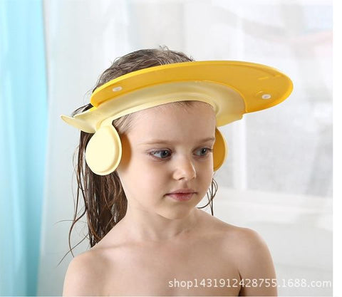 Uptown Vibez Yellow Adjustable Silicone Baby Shower Cap