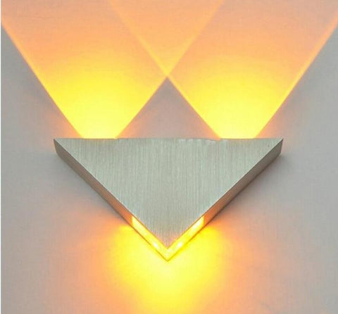 Uptown Vibez Yellow / China Modern LED Triangle Lampure Wall Sconce
