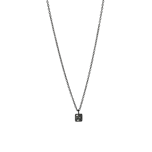 Mini Raw Cut Diamond Square Necklace