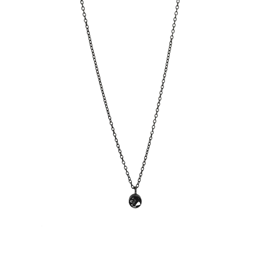 Mini Raw Cut Diamond Circle Necklace