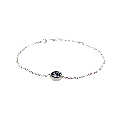 Raw Cut Diamond Mini Circle Bracelet