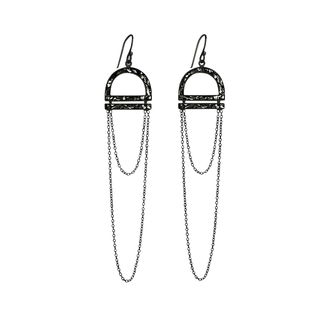 Arch Diamond Chain Earrings