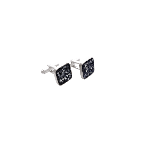 Raw Cut Diamond Cuff Links