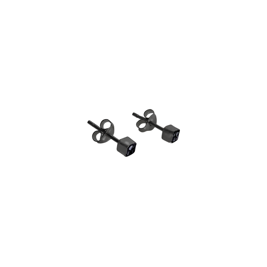Raw Cut Diamond Square Studs