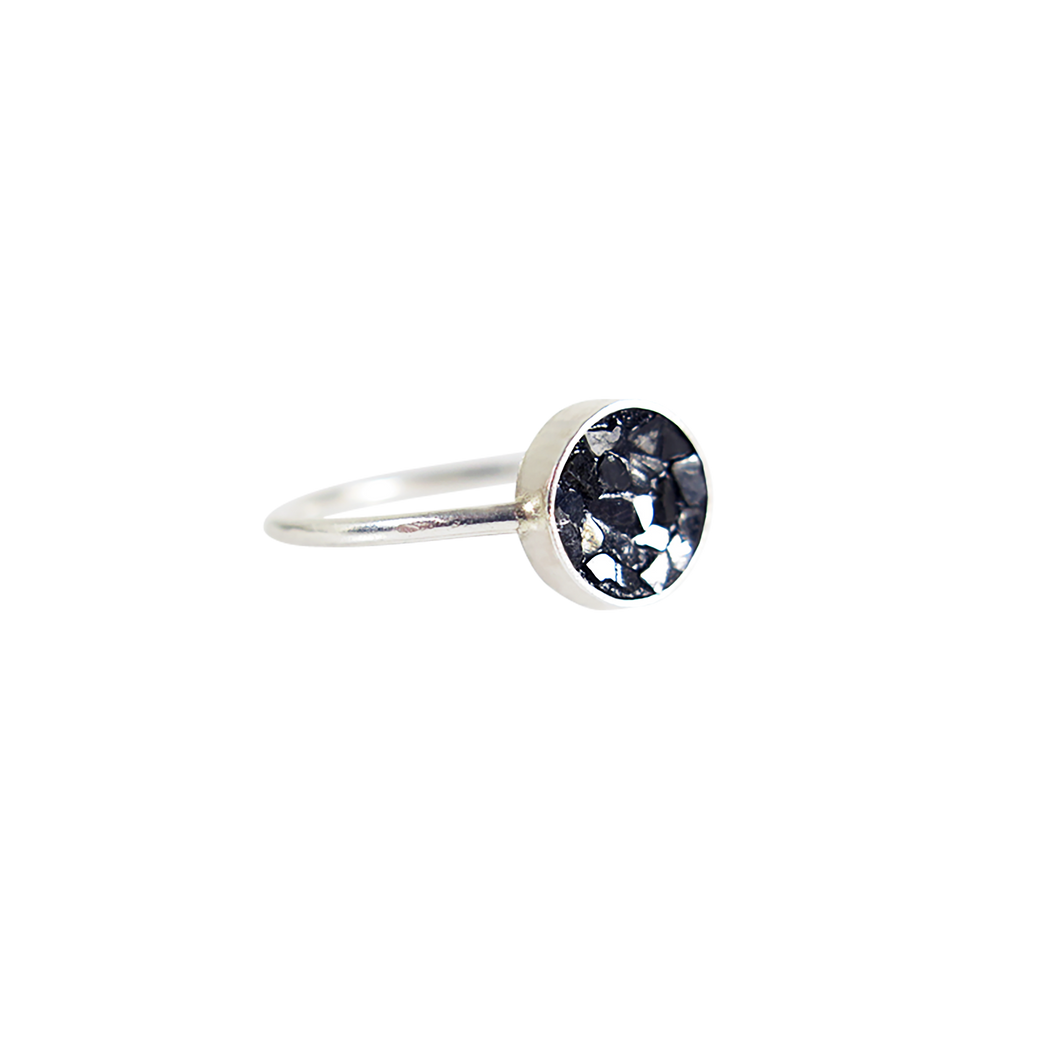 Raw Cut Diamond Circle Ring