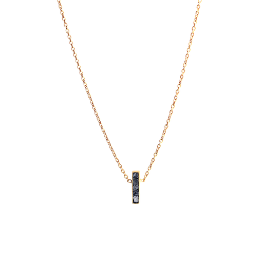 Raw Cut Diamond Oblong Necklace