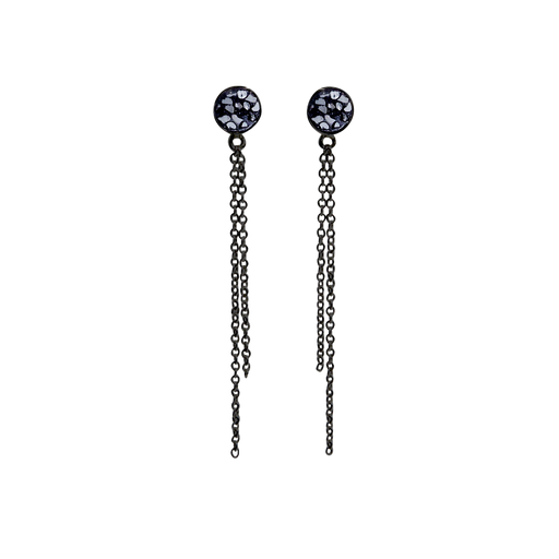 Raw Cut Diamond Chain Earrings