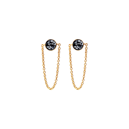 Raw Cut Diamond Loop Earrings