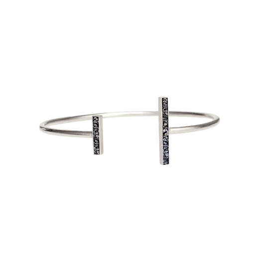 Raw Cut Diamond Oblong Bangle