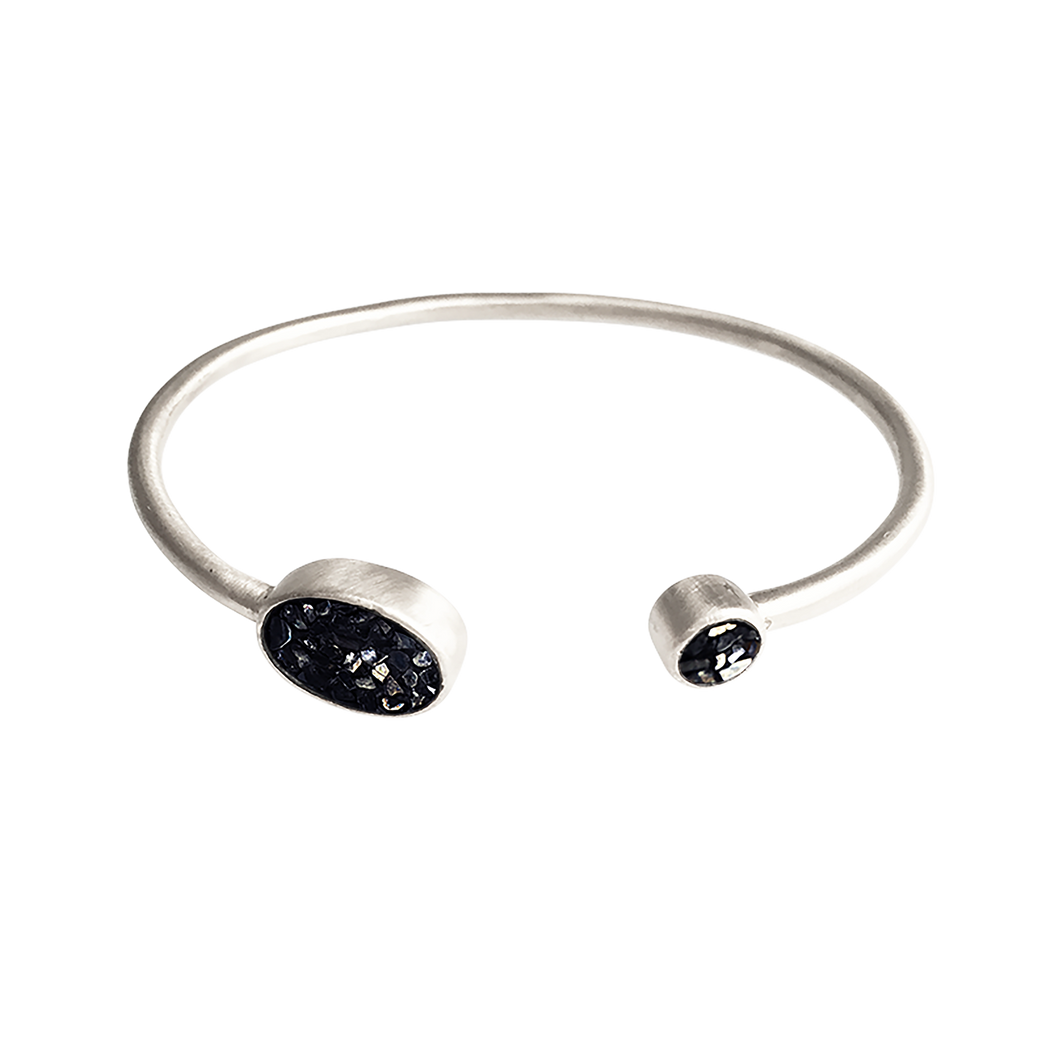Raw Cut Diamond Wired Bangle