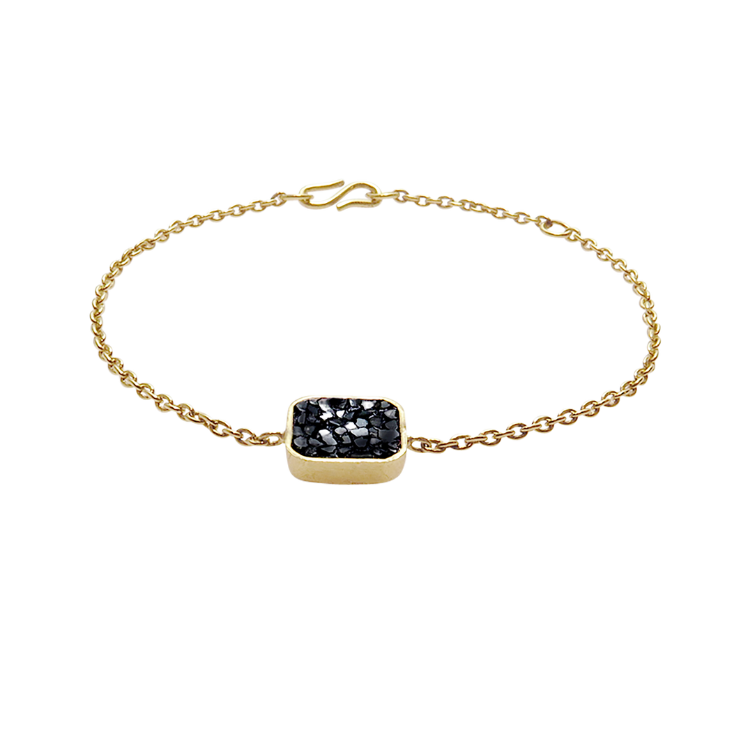 Raw Cut Diamond Square Bracelet