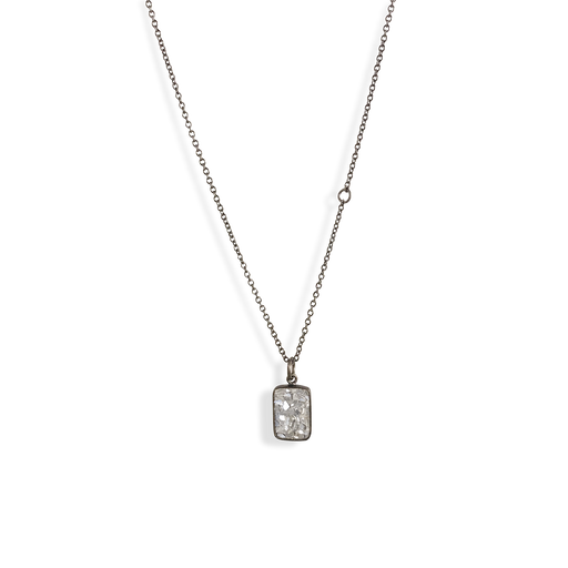 Raw Cut Diamond Plate Necklace