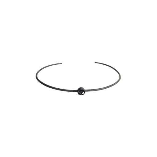 Raw Cut Diamond Thin Circle Bangle