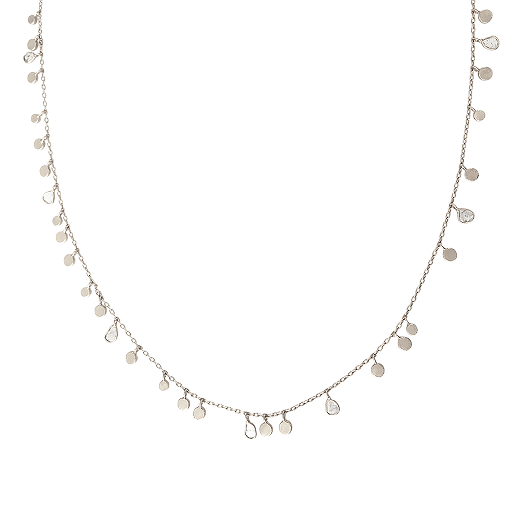 Polki Diamond Leaf Necklace