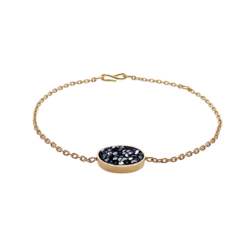 Raw Cut Diamond Oval Bracelet
