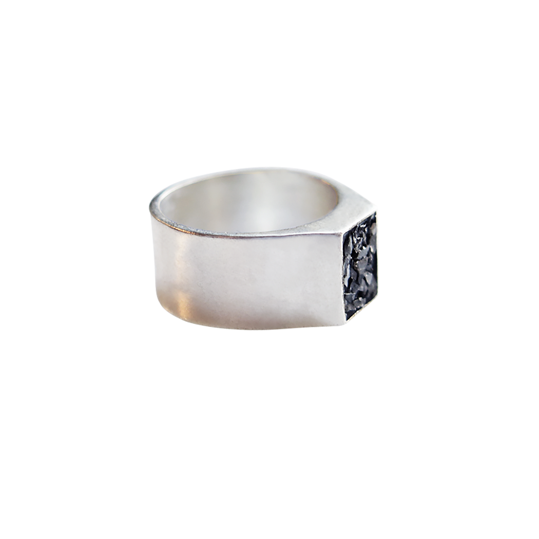 Raw Cut Diamond Seal Ring