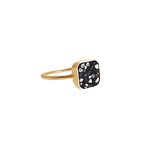 Raw Cut Diamond Square Ring