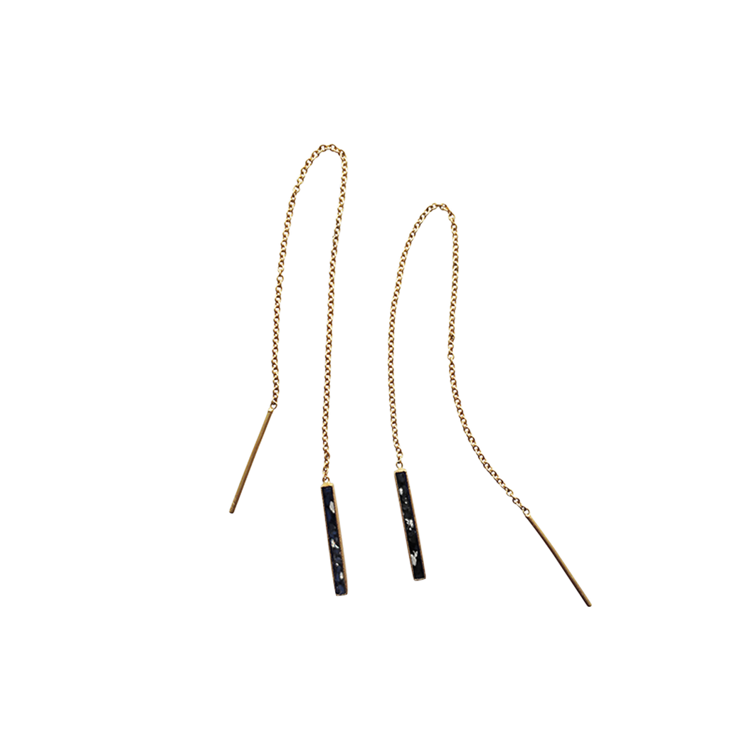 Oblong Chain Earrings