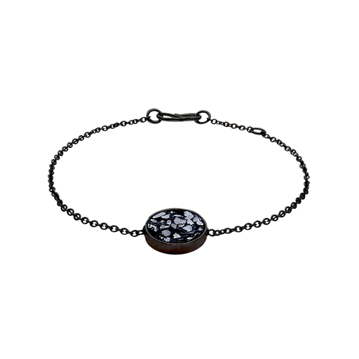 Raw Cut Diamond Circle Bracelet