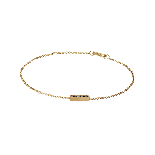 Raw Cut Diamond Oblong Bracelet