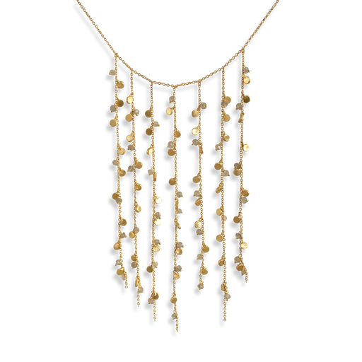 Labra Chain Leaf Necklace