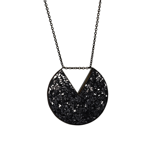 Raw Cut Diamond V Necklace