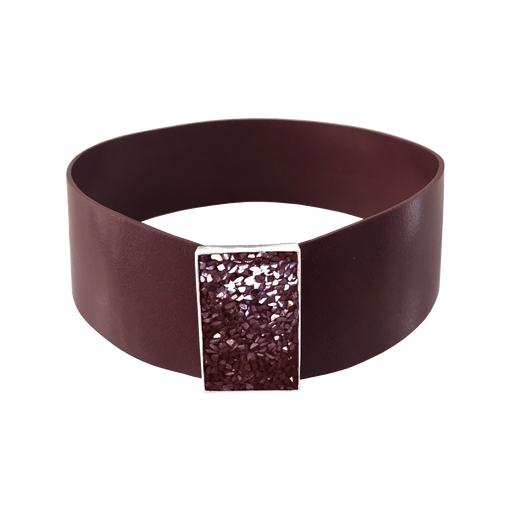 Burgundy Leather Choker