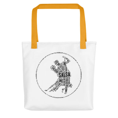 """Salsa Word Cloud"" Tote Bag"