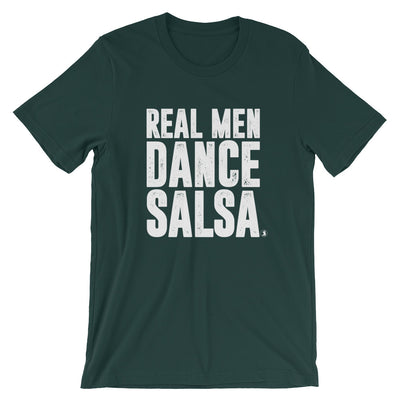 """Real Men Dance Salsa"" Men's T-Shirt"